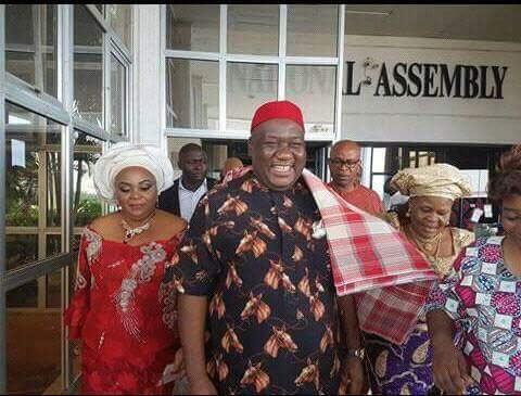 Saraki swears in senator who will replace Ekweremadu as d. Senate president (according to Okorocha)