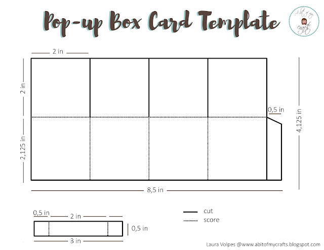 Laura Volpes Free Pop-Up Box Card Template