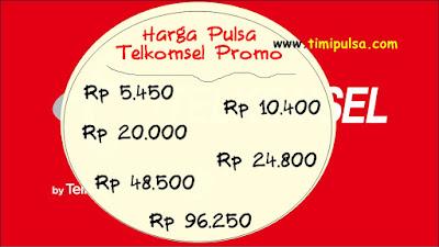 Harga Pulsa Telkomsel Promo di Timi Pulsa