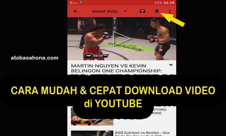 2 Cara Mudah dan Cepat Download Video YouTube di HP Android