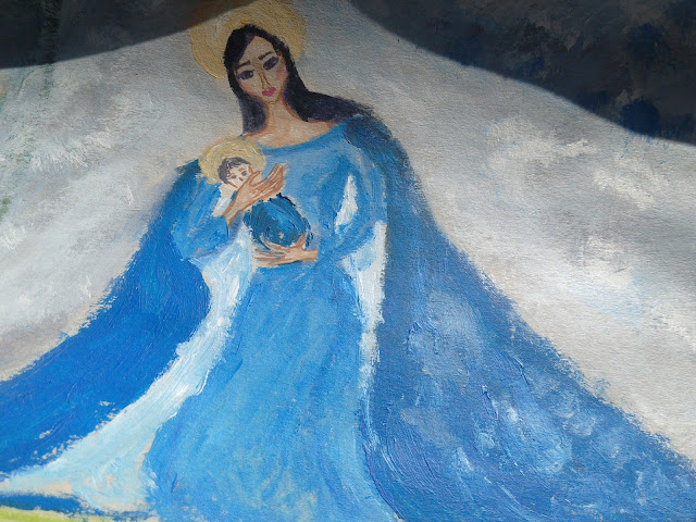 My art lately- classical themes (Madonna with the baby Jesus 1 and 2)