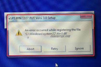Install eSPT PPN 1107 PUT An Error Occured While Registering The File