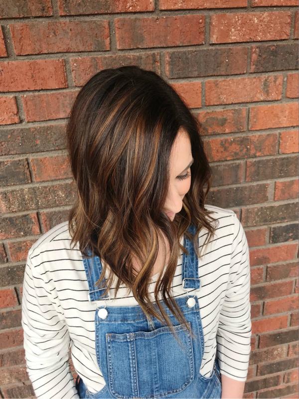 balayage hair color, long bob, shadowed roots, short hair style, hair style, north carolina blogger