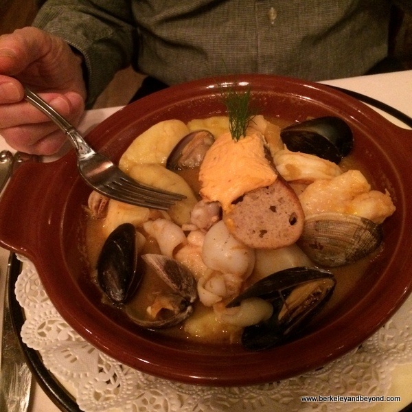 bouillabaisse at Restaurant Jeanne d'Arc in San Francisco