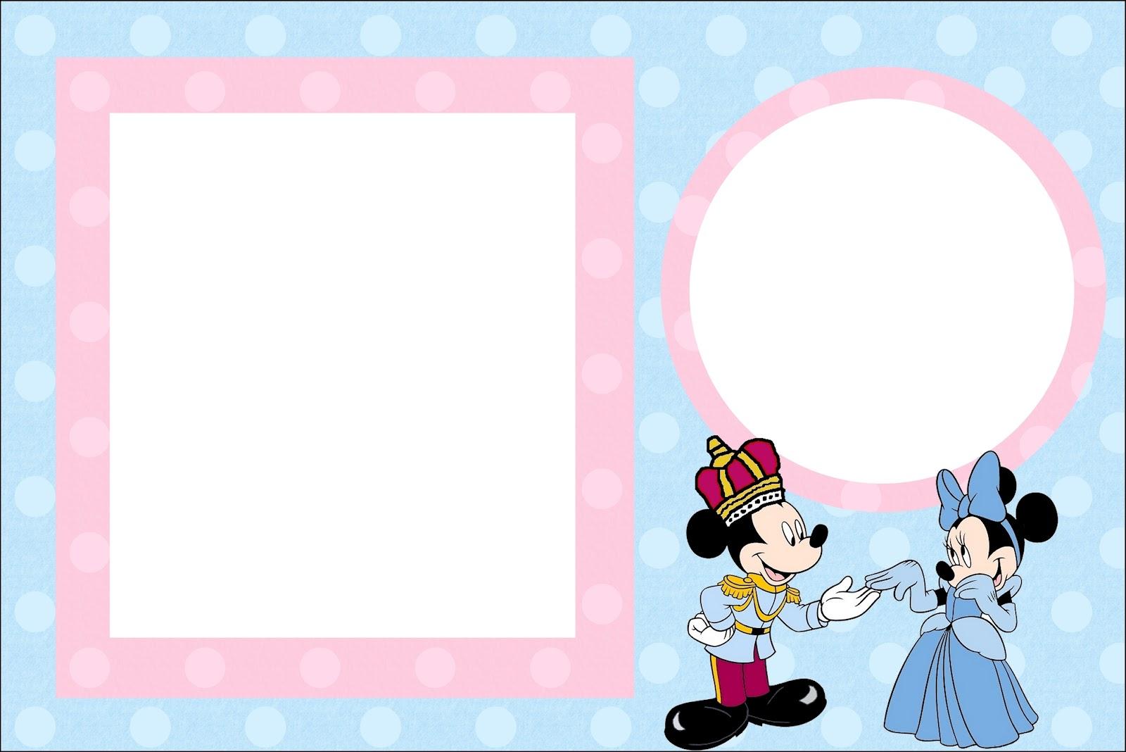 Imprimibles Minnie Y Mickey Rey Y Reina Ideas Y Material