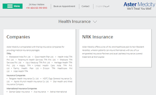aster medicity insurance companies linked tpa