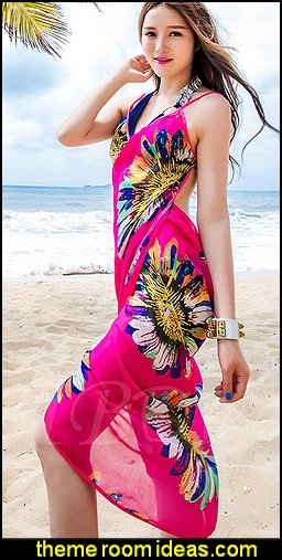 Floral Print Beach Clothing Women's Cover Up and Wraps