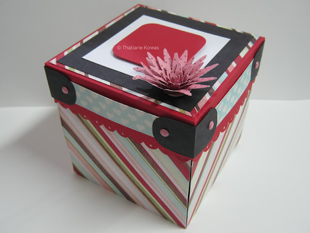 caixa box explosion scrapbook
