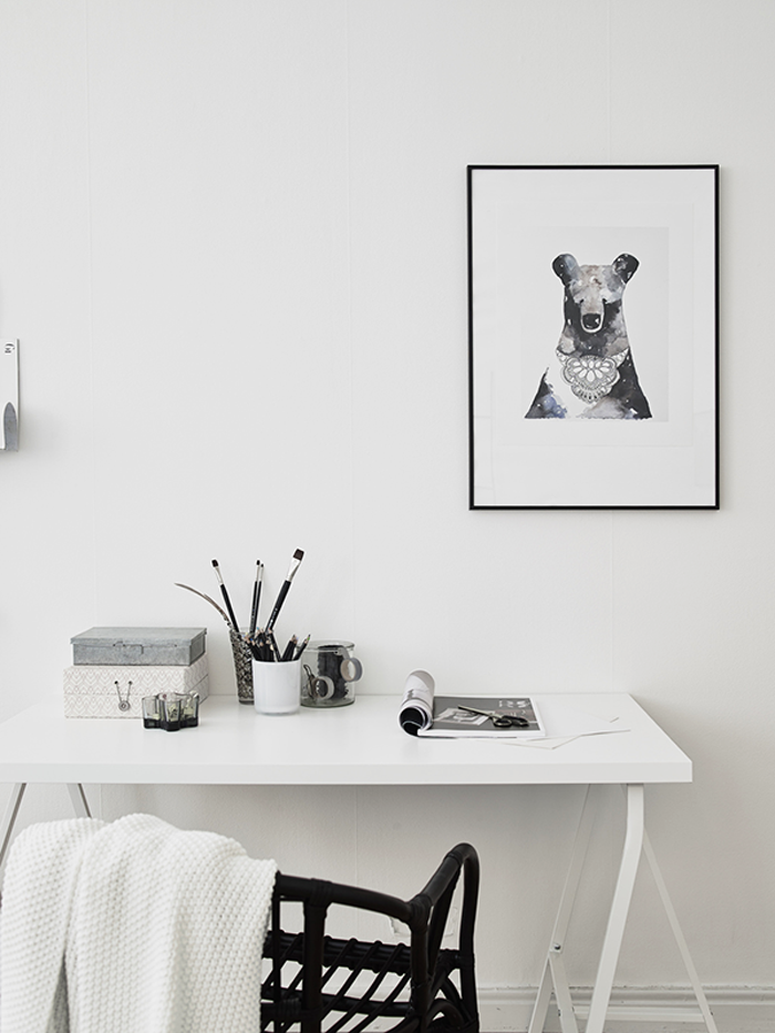 minimal white working space