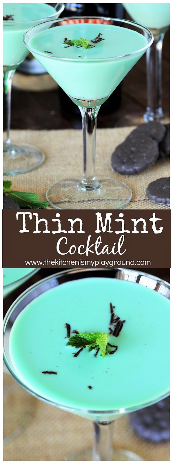 Thin Mint Cocktail - The Kitchen is My Playground