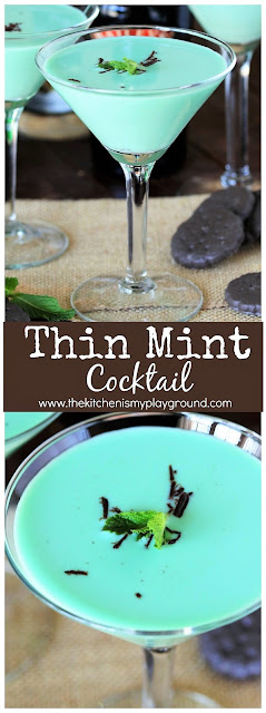 Thin Mint green cocktail photo