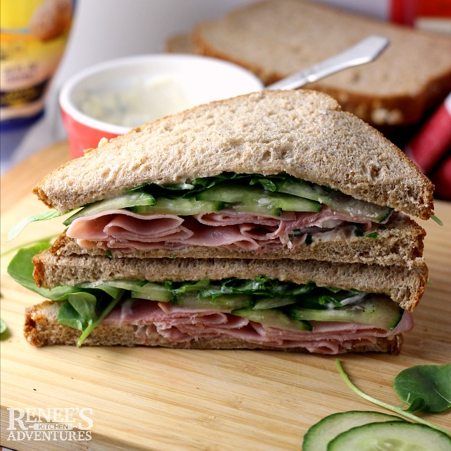 Ham, Cucumber, and Watercress Sandwiches