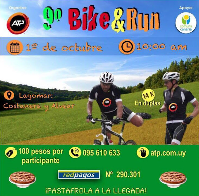 14k Bike & run en duplas de ATP en San José de Carrasco (01/oct/2017)