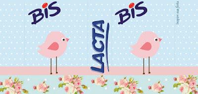 Etiquetas para Imprimir Gratis de Pajarito Rosa en Fondo Shabby Chic.