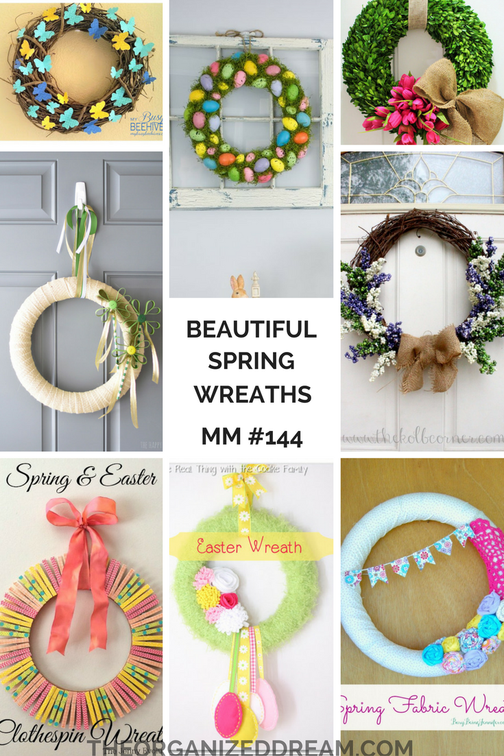 Beautiful Spring Wreaths Mm 144 The Organized Dream