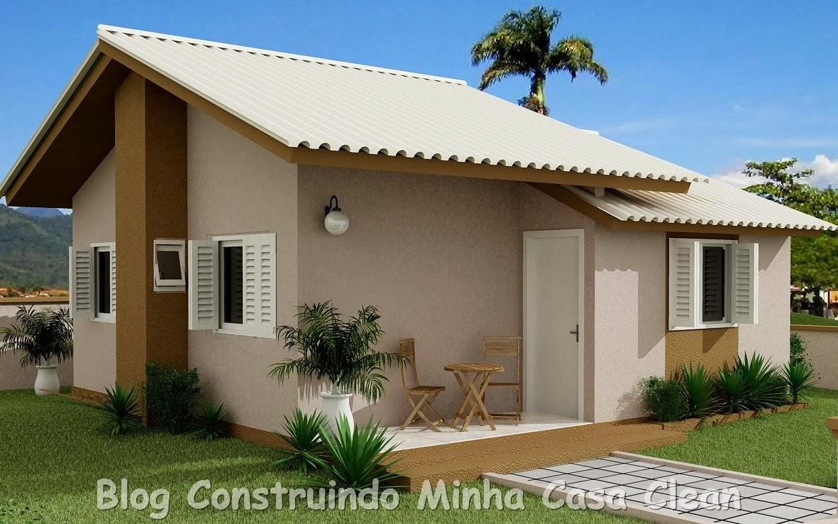 Construindo minha casa clean 20 fachadas de casas for Colores para casas pequenas