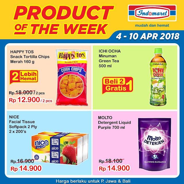 Dapatkan Promo Product Of The Week periode 4 - 10 April 2018 hanya di Indomaret