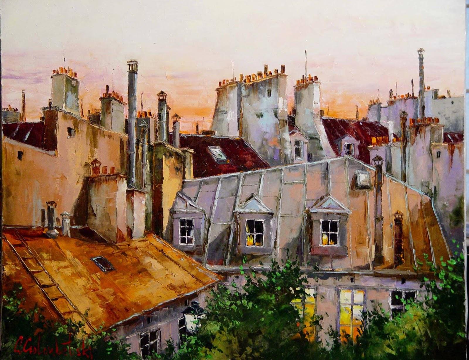 Gleb Goloubetski Paris rooftops