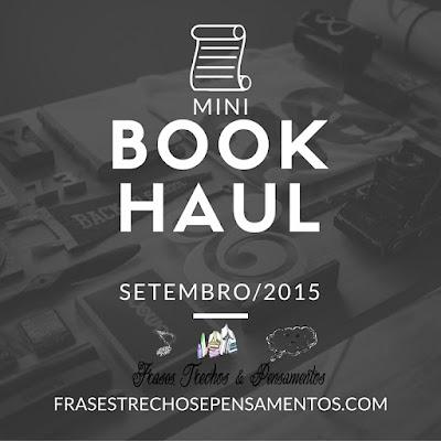 Mini BookHaul Setembro/2015 O Gabriel Lucas - #OGL