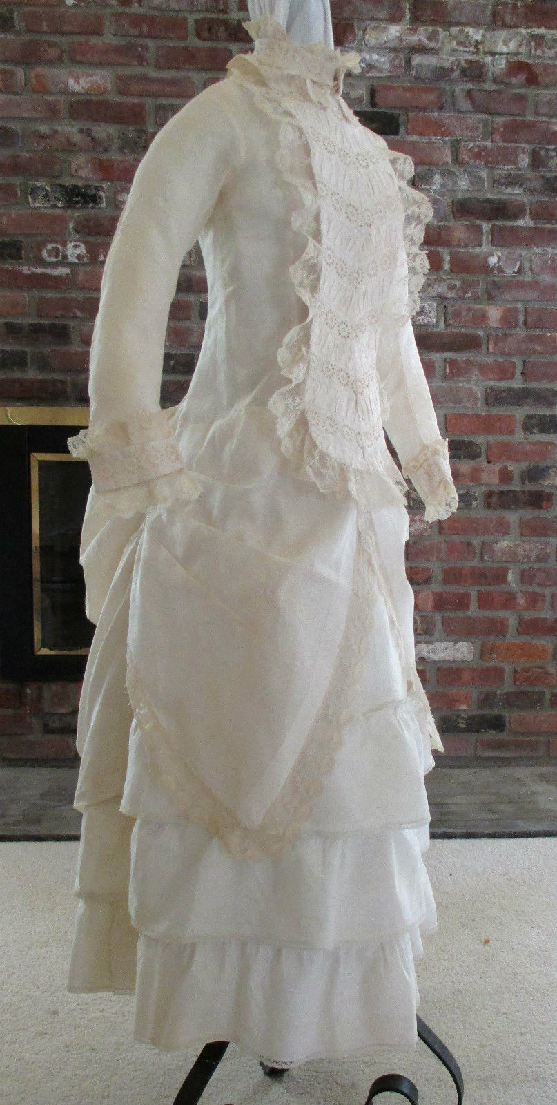 Ruched Cream 3pc Comforter Set Full Queen King Cal King: All The Pretty Dresses: Bustle Era Young Miss Cream