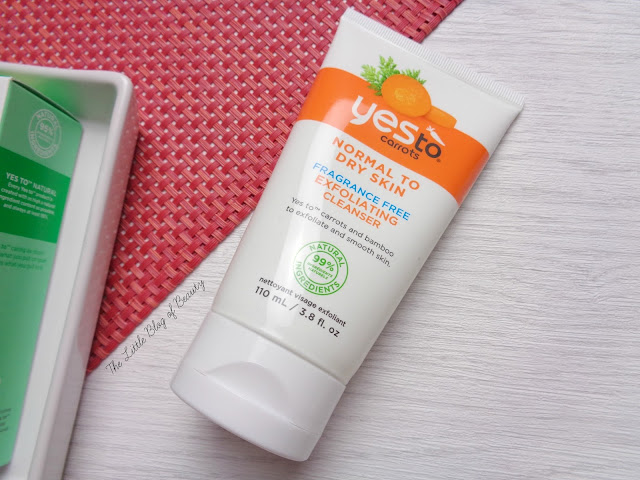 Yes to Carrots Exfoliating cleanser