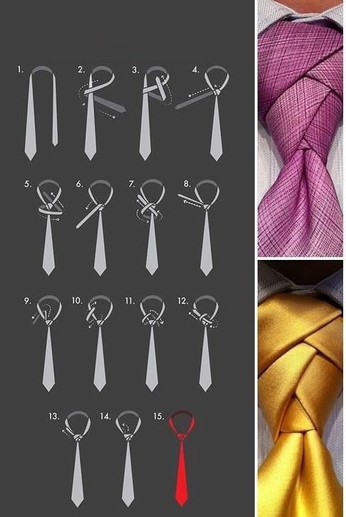 Originalus kaklaraiščio mazgas