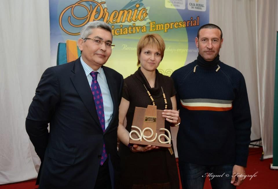 Mermeladas el Ababol recogiendo el premio Empresa 2014- Innovación