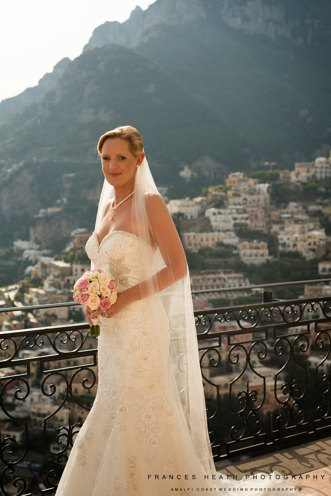 Bridal portrait at Villa Oliviero in Positano
