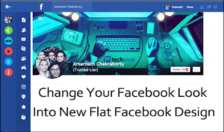 How To Change Your Facebook Look into New Flat Facebook Design