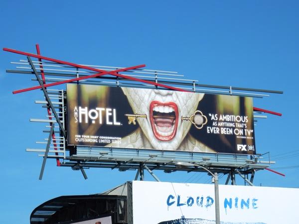 American Horror Story Hotel Emmy FYC billboard