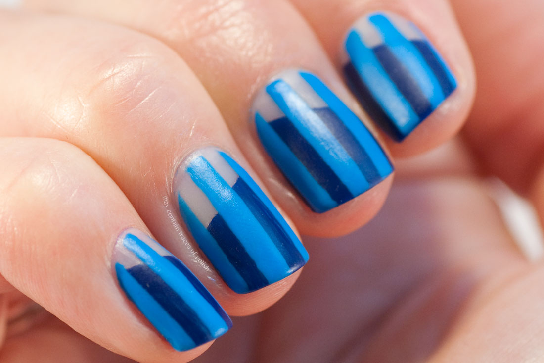 31 Day Challenge: Day 12, Stripes Nail Art