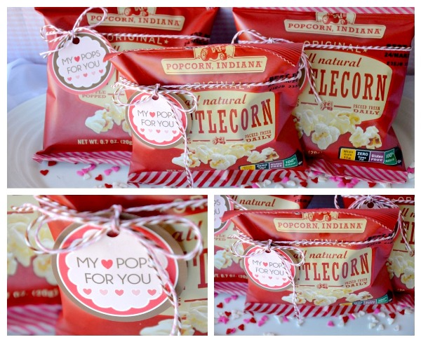 Easy Valentine's Party Favors with FREE Printable Party Tags - via BirdsParty.com