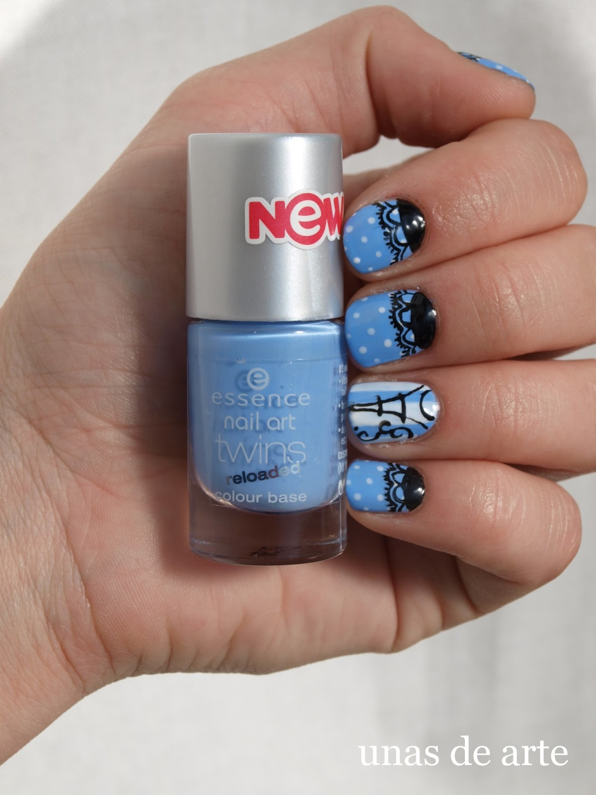 Uñas De Arte Paris Nails With Lace And Dots