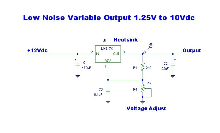 1.25V To 12Vdc Variable Output Low Noise