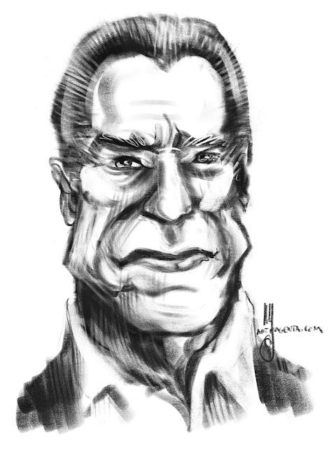 Arnold Schwarzenegger caricature by Artmagenta