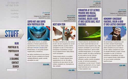 Create A Wickedly Cool Horizontally Oriented Website Design