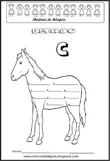 Treino ortográfico letra C cavalo