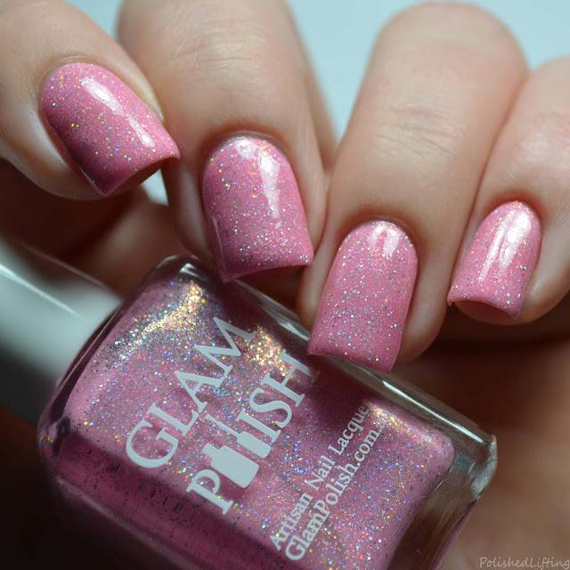 pink holo nail polish