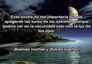 mensaje buenas noches amor