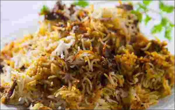 kachay meet ki biryani recipe