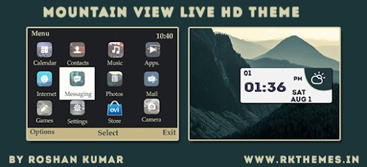 Mountain View Live HD Theme For Nokia C3-00, X2-01, Asha 200, 201, 205, 210, 302 & 320×240 Devices ~ Rkthemes | Download Free Themes For  Nokia and Android Phones
