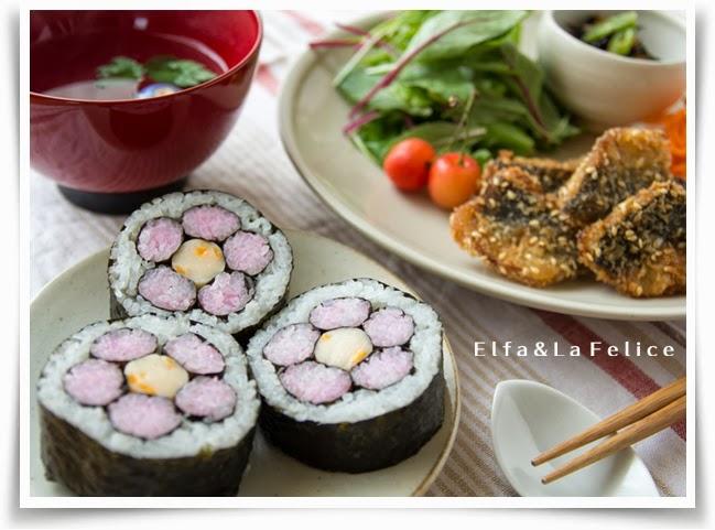 飾り巻き寿司 季節のプレート