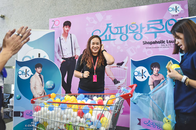 Oh!K Korean TV Channel 394 got this shopaholic game