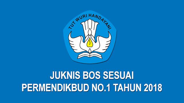 Juknis BOS Sesuai Permendikbud No. 1 Tahun 2018