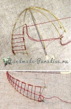 Объемная вышивка «Зонтик» (9)