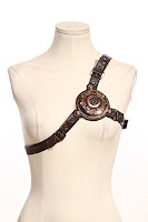 Steampunk accessories for men and women. Steampunk Chest Harness with LED light