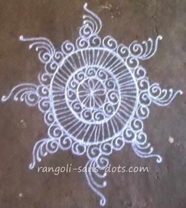 Free hand rangoli designs - mandala art | Kolam by Sudha ...