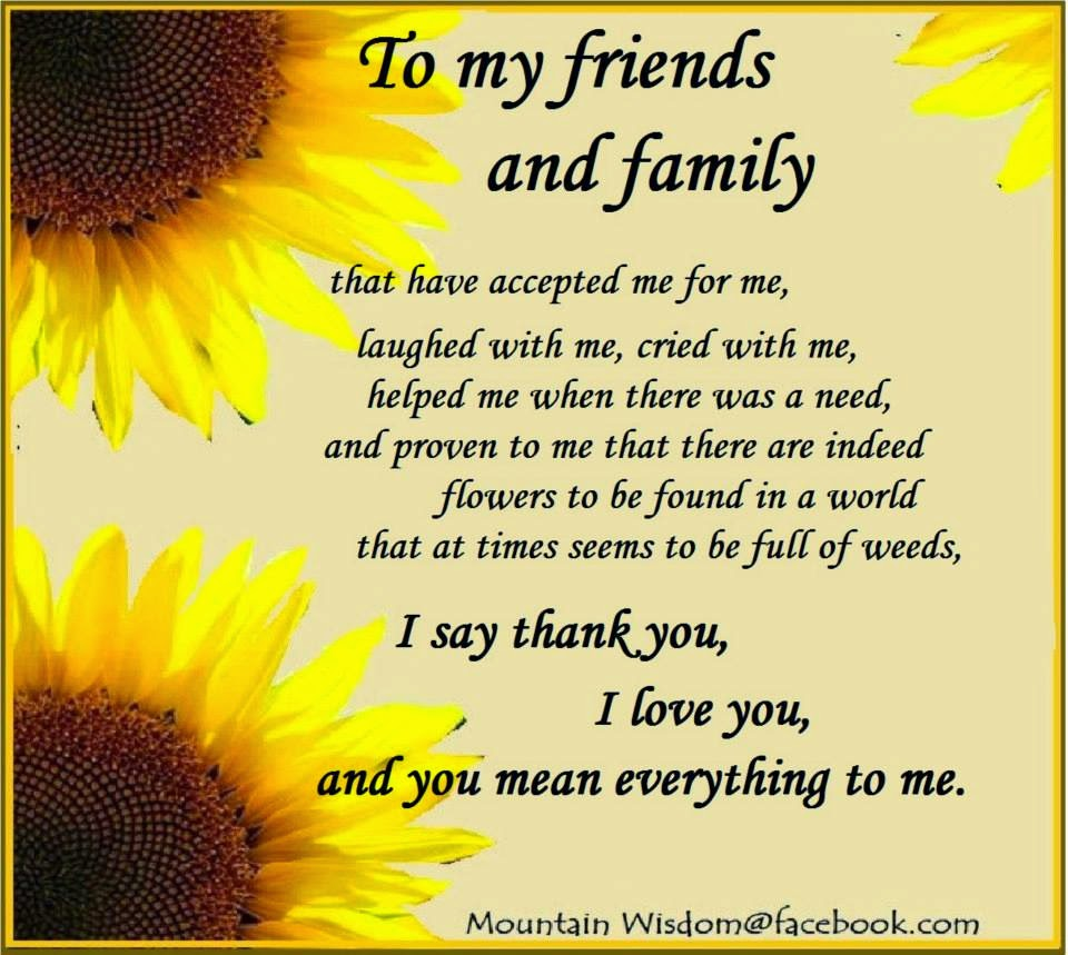 Quotes To Say Thanks: Thankful Quotes For Friends And Family. QuotesGram