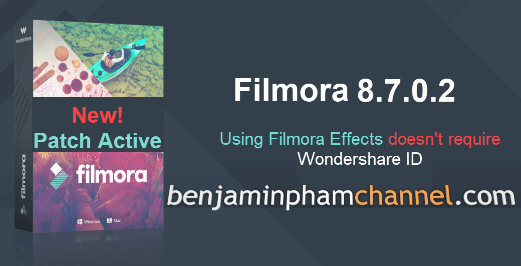 Wondershare Filmora 8.7.0.2-Using filmora effects doesn't require Wondershare ID