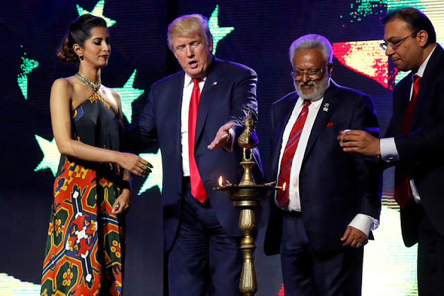 Image Attribute: President-elect Donald Trump at a charity concert put on by the Republican Hindu Coalition in New Jersey. Jonathan Ernst/Reuters